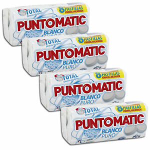 PUNTOMATIC COMPACT TABLETS LAUNDRY DETERGENT, FOR WHITE CLOTHES, 4 PACK