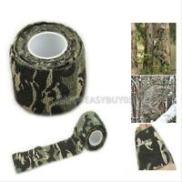 1 Roll 4.5m Camping Hunting Camouflage Tape Camo Stretch Bandage for Gun Cloths