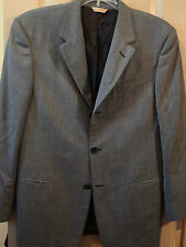 SZ 40R DONNA KARAN MENS BLACK WHITE CHECK WOOL SUIT JACKET SPORT COAT BLAZER GUC