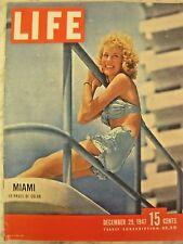 LIFE Dec. 29 1947 Miami in 1940's, Hasty Pudding, Institute for Advanced Studies
