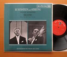 RCA RB 6520 Rubinstein & Szeryng Brahms Violin Sonatas no. 2 & 3 EXCELLENT mono