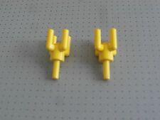 LEGO - 2 Giallo Lampada titolari/PALMA Tops-buone condizioni (2566)