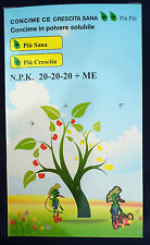 Concime fogliare radicale  granulare accrescimento orto giardino 20-20-20 kg 2,5