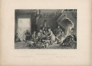 Victorian A Cabaret In The Pyrenees Rain Day Engraving Print