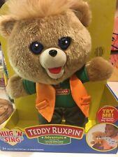 Teddy Ruxpin Hug N Sing Plush with Sound - Adventure Style Teddy - New In Box