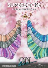 Sockenwolle Supersocke Sortierung 233 ONline Silk Color mit 20 % Seide 600 g