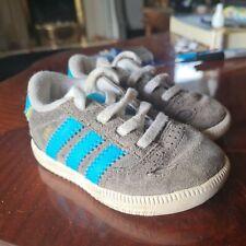 Adidas Ciero Baby Boy Size 3k Grey Suede Trainers