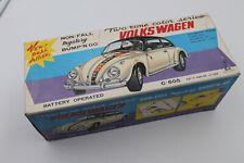 Rare! NOSS 1950s Taiyo Volkswagen Beetle B/O Mystery Tin Litho Toy VW Car