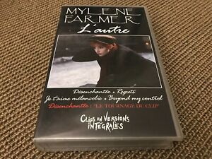 RARE K7 VHS VIDEO MYLENE FARMER / BOUTONNAT L'AUTRE (DESENCHANTEE/REGRETS)