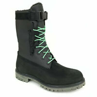"""Timberland Men's 6"""" Lined Black Leather Waterproof Gaiter Boots A1UYM"""