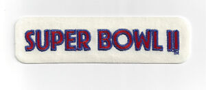1968 Super Bowl II patch Green Bay Packers vs Oakland Raiders Bart Starr MVP