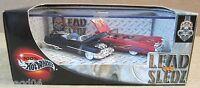 Hotwheel Lead Sledz 2-Car Set '53 Biarritz '59 Convertible Cadillac Vehicle 1:64