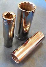 """ALLEN 11367 17mm Deep Chrome Hand Socket, 3/8"""" Drive, 12-point, Brand New, USA"""