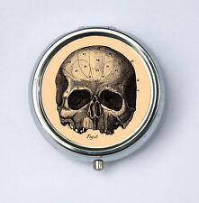 Victorian Medical Skull Pill case box holder gothic psychobilly anatomy