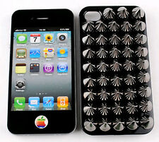 2013 NEW Fashion 1pc Punk style for Iphone 4/4S Defender Case Rivets decoration
