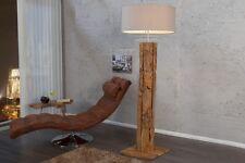 Lampadaire 160cm moderne artistique en teck bois toile salon