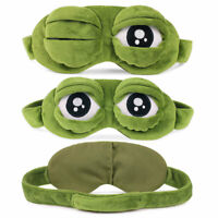 Pepe der Frosch Trauriger Frosch 3D Augenmaske Schlafstütze Schlaf DE