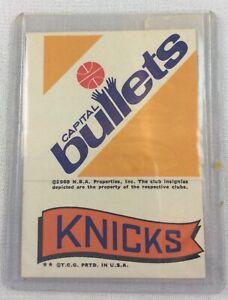 NBA 1973 Topps Basketball Insert - Capital Bullets - Knicks