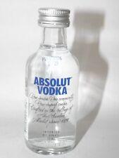 Absolut Vodka Blau 40% 50ml mini flaschen bottle miniature bottela Neue Version