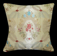 hg02a Blue Red Yellow Green Brown Pale Gold Damask Cushion Cover/Pillow Case