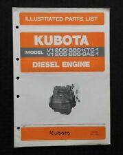 GENUINE KUBOTA D1205-BBS-KTC-1 D1205-BS-SAE-1 DIESEL ENGINE PARTS MANUAL CATALOG