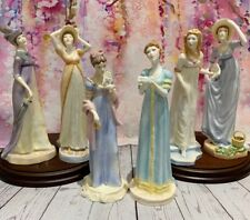 Royal Worcester Figurines, Complete Set Of Jane Austen Collection.