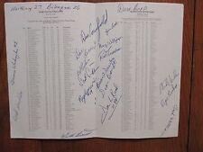 1981 Wartburg College Football Program (16 Signed/DON CANFIELD/DENNIS WASHINGTON