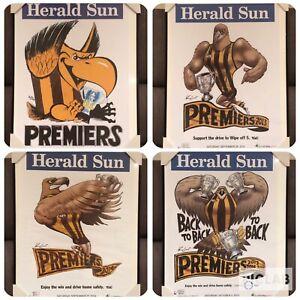 Framed Hawthorn Hawks Posters WEG Knight