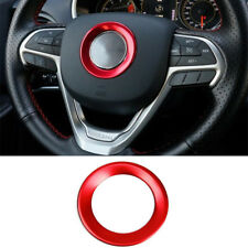 For Jeep Cherokee 2014-2018 Grand Cherokee Steering Wheel Center Cover Trim Red