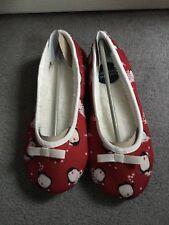 M&S Rosso Pinguino Pantofole con fodera in pelliccia sintetica interno in stile pantofola Balletto UK4