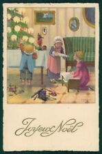 Artist Signed Pauli Ebner Children Christmas serie 6049 postcard TC2290