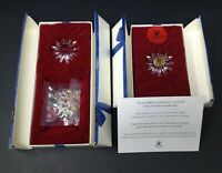 3 Lot Swarovski Small Flowers Collectors Society with Boxes Mint