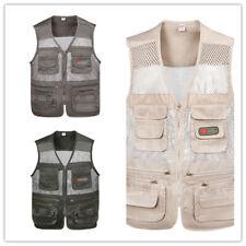 Vest men's outdoor thin loose coat fishing photography tooling vest multi-pocket