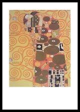 Gustav Klimt Die Erfüllung Poster Bild Kunstdruck im Alu Rahmen schwarz 70x50cm