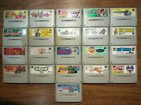 21 Game Lot Nintendo Super Famicom SNES SFC Japan Import