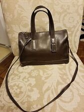 COACH satchel crossbody doctor bag BROWN LEATHER EXCEPTIONAL Purse
