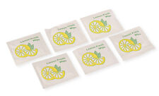 100 x SMALL Lemon-Scented Fresh Wet Hand Wipes Towel Napkin Individual Wrap