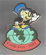 Jiminy Cricket Pinocchio Globe Earth Day 2001 Signed! Le 5000 Disney Pin