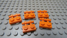 LEGO Orange Plate, Modified 1 x 2 with Handle on Side