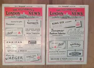The Illustrated London News March 1st + 15th 1952 No's 5889 + 5891