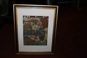 Antique Vintage Asian Persian Middle Eastern Batik Tapestry-#3-Religious Men