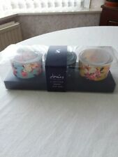 New 2018 Joules glass votive tealight/candle holder gift set