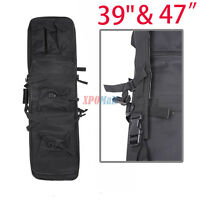 "39"" 47"" Case Bag For Fishing Rod Double Layer Carbine Rifle Weapons Bag Black"