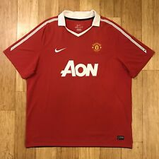 [382469-623] 2010-2011 Nike Manchester United Short Sleeve Jersey Kit Men's XXL