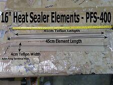 "2 x Sets PFS-400 - 16"" Impulse Heat Sealer Replacement Element Kits *US Ship*"