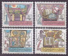 CZECHOSLOVAKIA 1988 **MNH SC#2701/04 PRAGA`88 The National Library