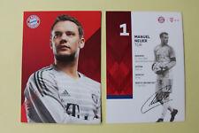 Manuel Neuer Autogrammkarte FC Bayern München Autogrammkarten Robert Lewandowski