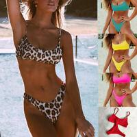 Daisy Beachwear Womens Nautical Striped Pucker Back Strappy Bikini