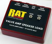 RAT VALVE AMP AMPLIFIER SPEAKER DUMMY LOAD BOX HEADPHONE AND LINE OUT 8 OHMS UK
