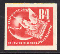 East Germany 84pf + 41pf Imperf Stamp c1950 (July) Mounted Mint Hinged (8016)